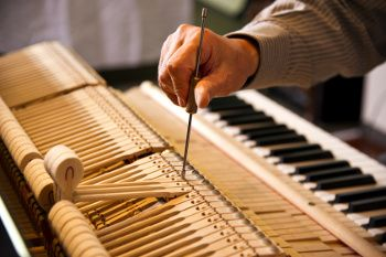 Charles spends between one and half to two hours tuning each piano.  He never walks away from a piano without giving it the best tuning it is possible to give.